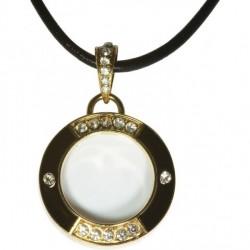Loupe bijoux pendentif noir x3 Lesa