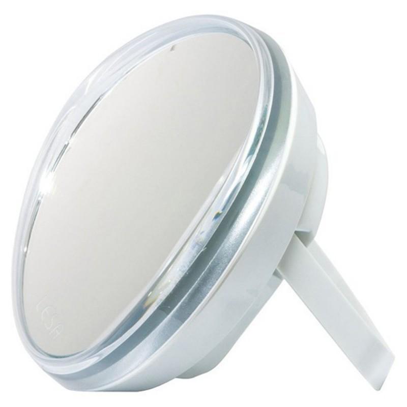 Miroir grossissant éclairant avec pied
