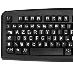 clavier gros caractères
