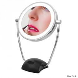 Miroir grossissant éclairant x10