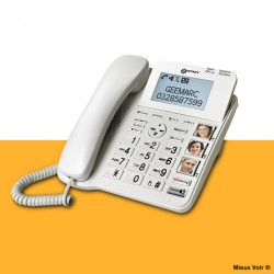 Téléphone fixe grosses touches + photos Geemarc CL595
