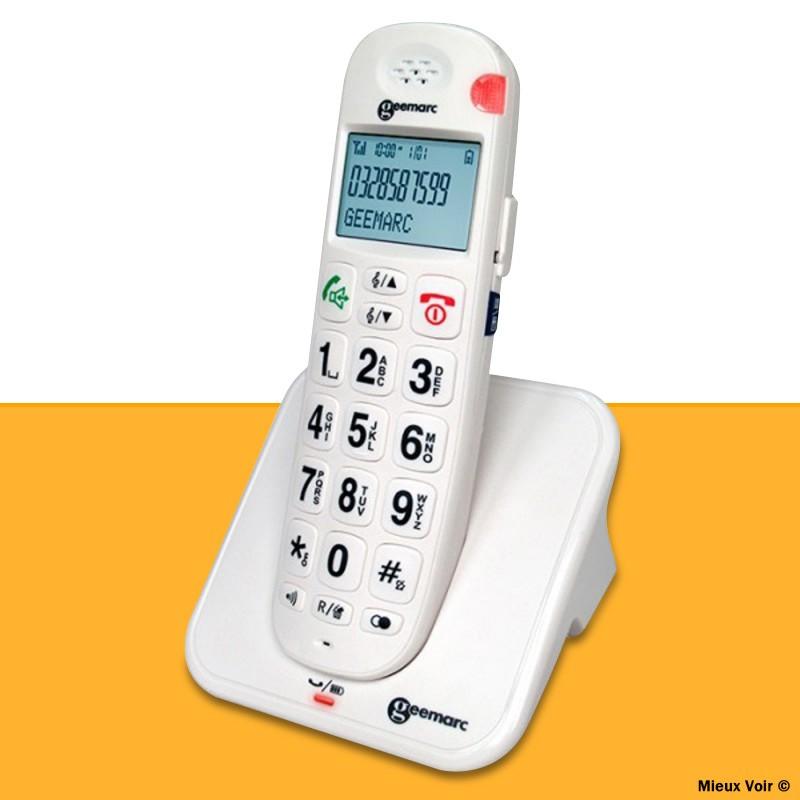 téléphone parlant sans fil Geemarc amplidect 260