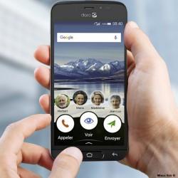 Doro 8040 - Smartphone pour seniors et malvoyants