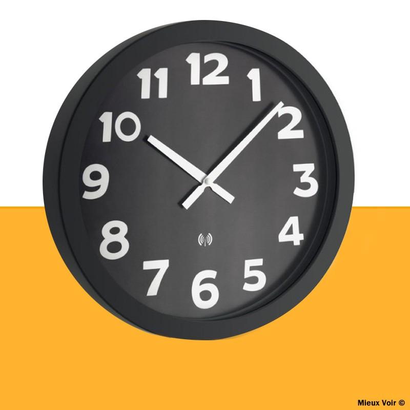 Horloge murale géante radio-pilotée à gros chiffres