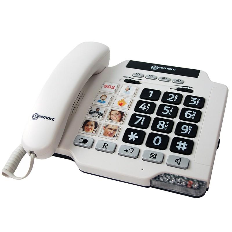 Téléphone amplifié à grosses touches - Geemarc Photophone 100