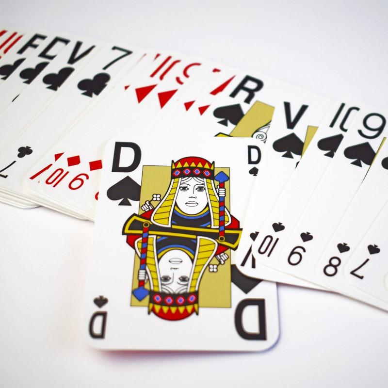 Jeux de belote en grands caractères