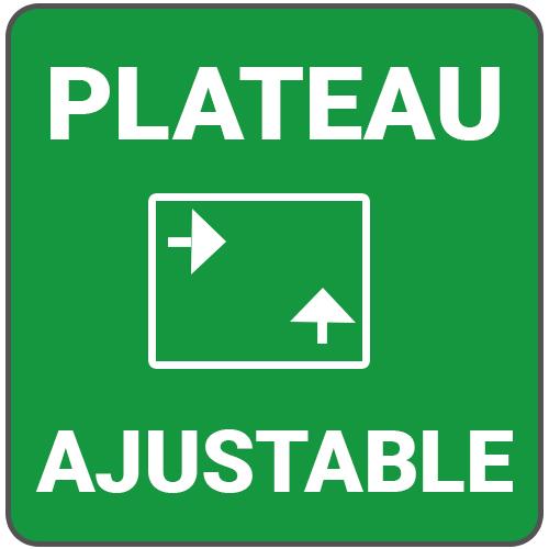 plateau ajustable