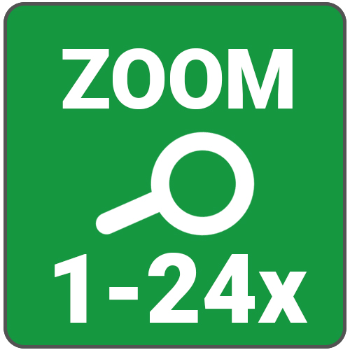 zoom 1 a 24 x