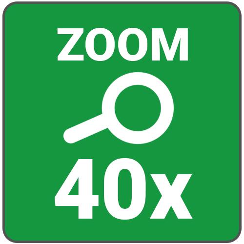 zoom max 40x