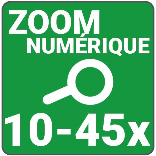zoom numerique 10 a 45x
