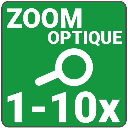 zoom optique 1 a 10x